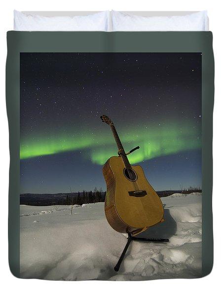 Aurora Instrumentalis Duvet Cover