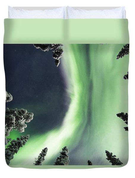 Aurora Lying On Your Back Duvet Cover