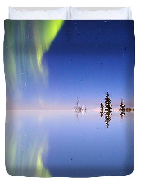 Aurora Mirrored Duvet Cover by Ed Boudreau