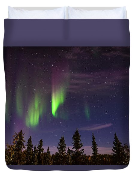 Aurora Nights Duvet Cover by Serge Skiba