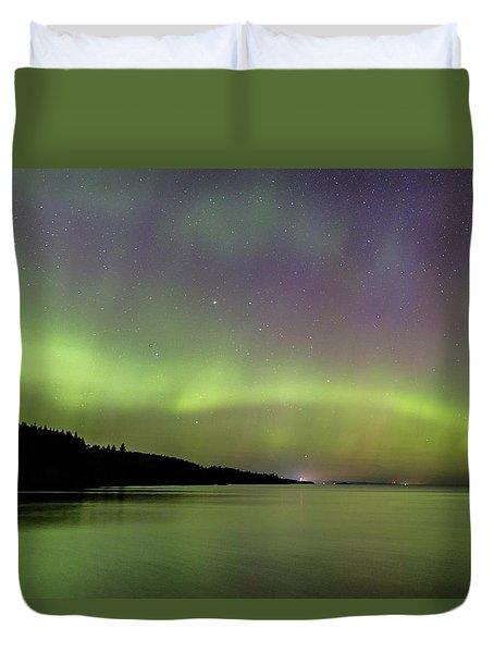 Aurora Over Superior 7 Duvet Cover