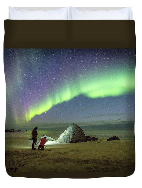 Aurora Photographers Duvet Cover