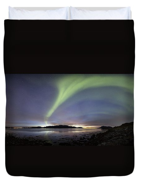 Aurora Polaris Panoramic Duvet Cover