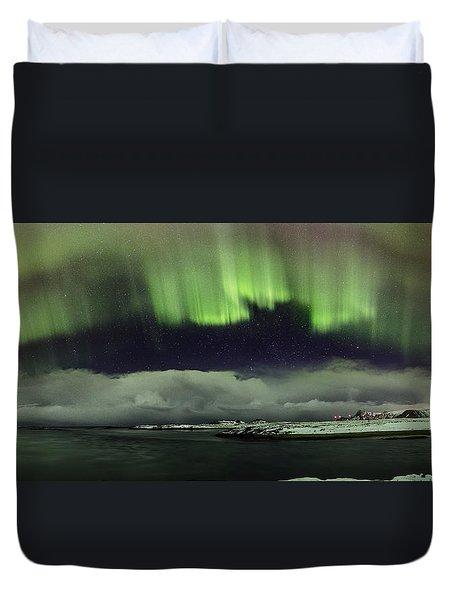 Aurora Polaris Panoramic II Duvet Cover