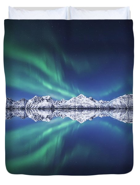 Aurora Square Duvet Cover