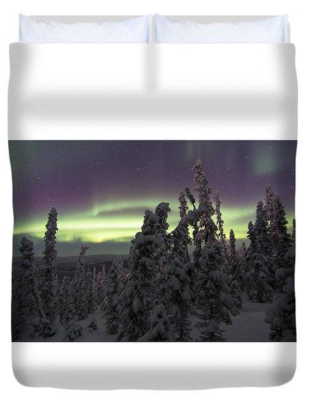 Auroral Horizon Duvet Cover