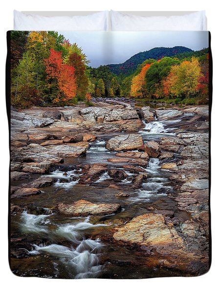 Duvet Cover featuring the photograph Ausable by Mark Papke