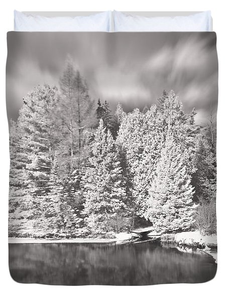 Ausable River Infrared 6295 Duvet Cover
