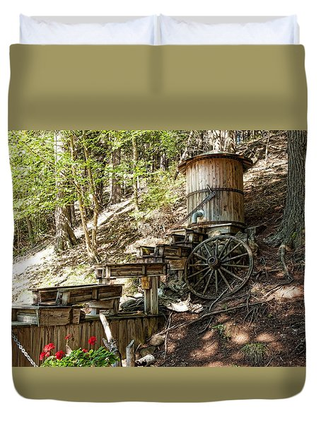 Ausable River Mining Company Duvet Cover