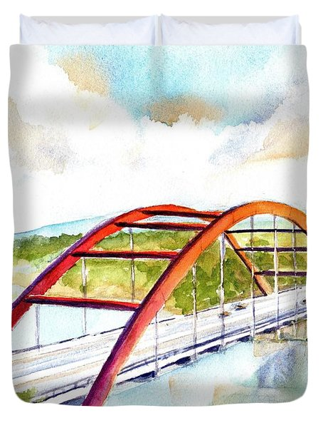 Austin 360 Bridge - Pennybacker Duvet Cover