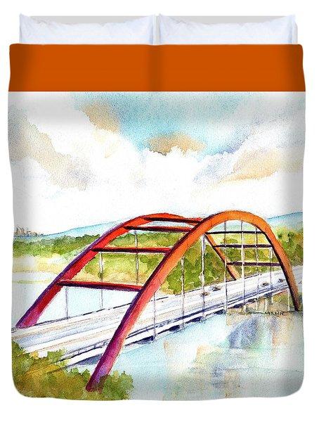 Austin 360 Bridge - Pennybacker Duvet Cover