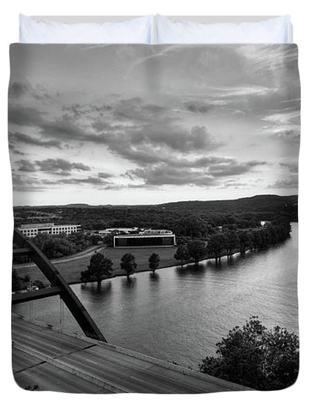 Austin 360 Pennybacker Bridge Sunset Duvet Cover
