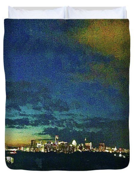 Austin At Dusk Duvet Cover