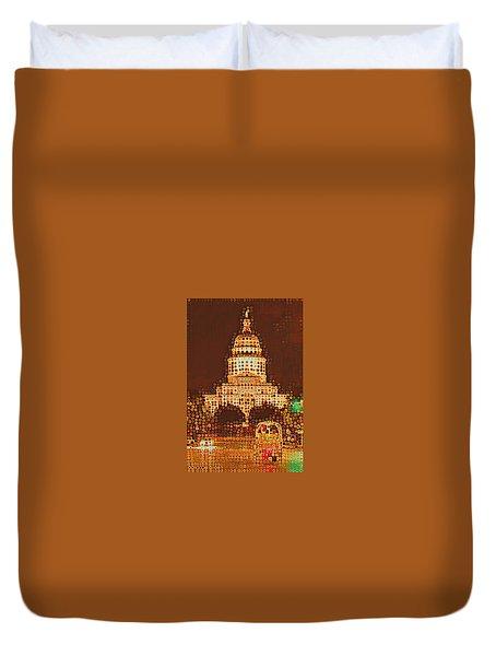 Austin Capitol At Night Duvet Cover