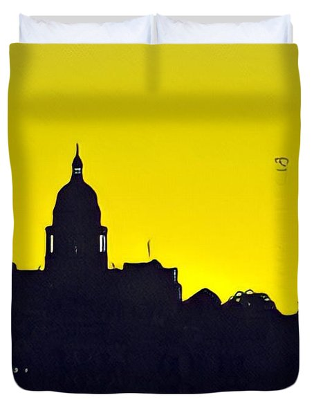 Austin Capital At Sunrise Duvet Cover