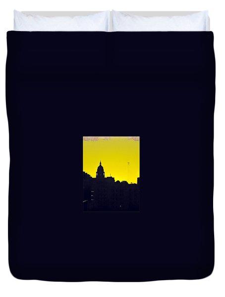Austin Capital At Sunrise Duvet Cover