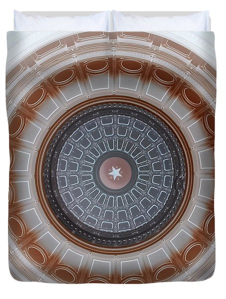 Austin Capitol Dome In Gray And Brown Duvet Cover