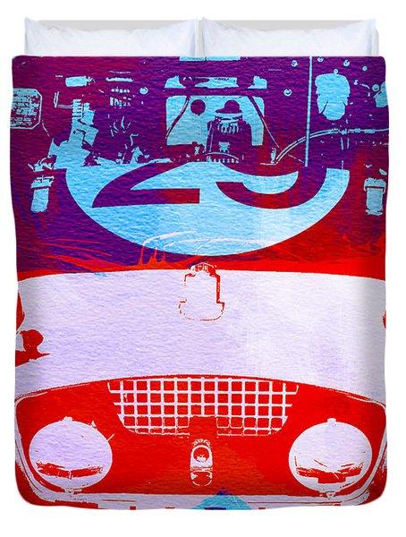 Austin Healey Bugeye Duvet Cover by Naxart Studio