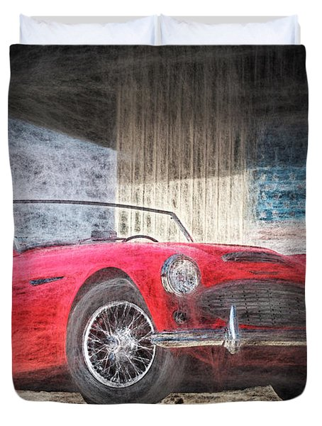 Austin Healey Chalk Study 4 Duvet Cover