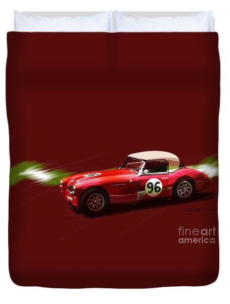 Austin Healy 3000 Duvet Cover by Roger Lighterness