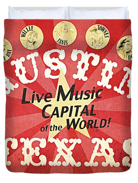 Austin Live Music Duvet Cover by Trish Mistric