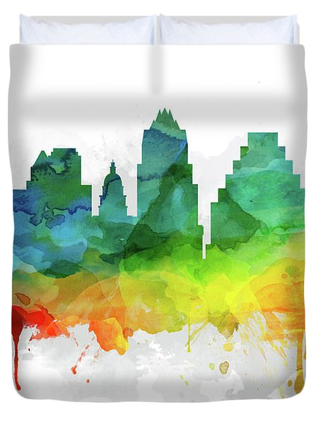Austin Skyline Mmr-ustxau05 Duvet Cover by Aged Pixel