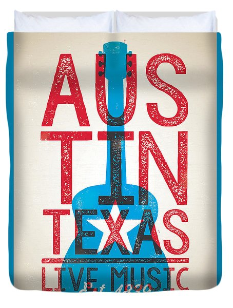 Austin Texas - Live Music Duvet Cover by Jim Zahniser