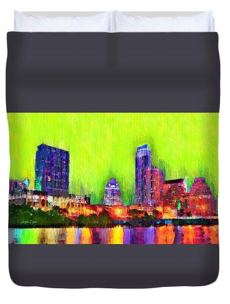 Austin Texas Skyline 115 - Da Duvet Cover