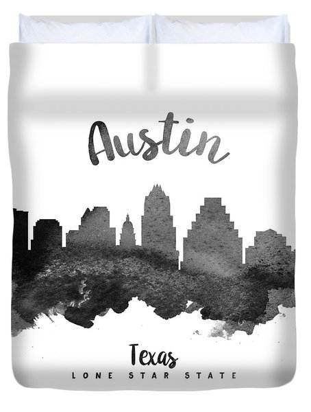 Austin Texas Skyline 18 Duvet Cover by Aged Pixel