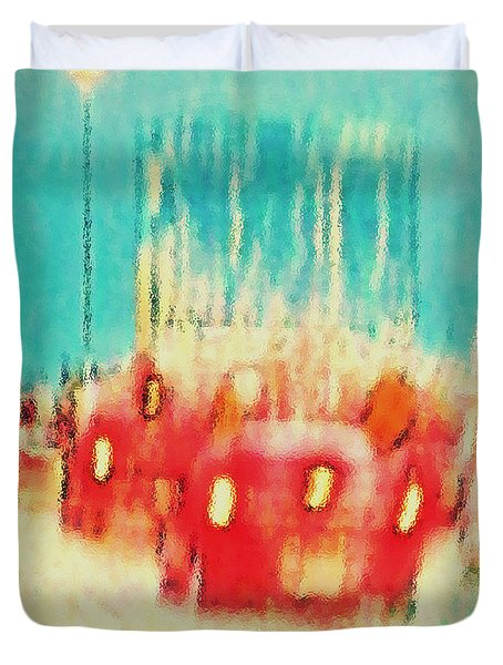 Duvet Cover featuring the photograph Austin Traffic by Barbara Tristan
