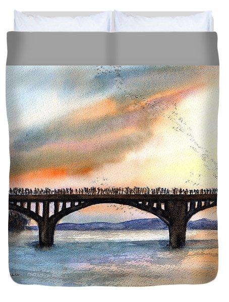 Austin, Tx Congress Bridge Bats Duvet Cover