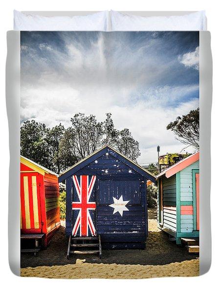 Australia Bathing Boxes Duvet Cover