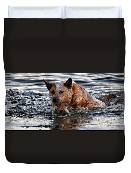 Out For A Swim Duvet Cover