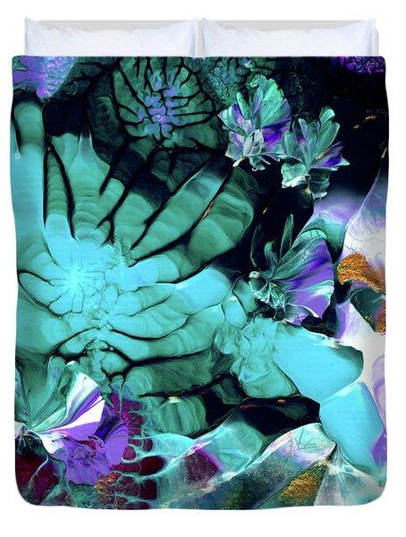 Australian Emerald Begonias Duvet Cover