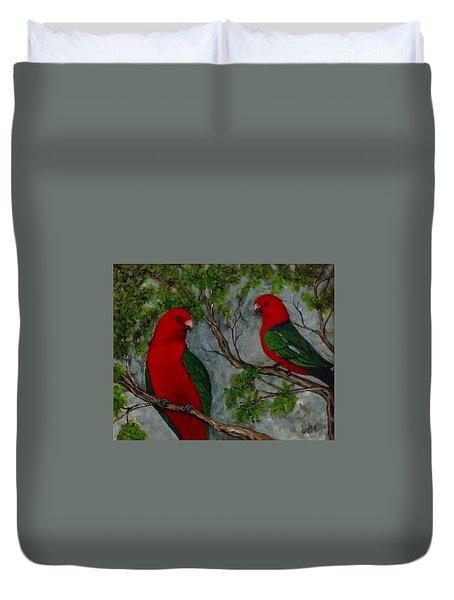 Australian King Parrot Duvet Cover by Renate Voigt