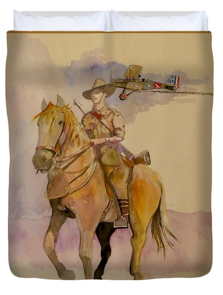 Australian Light Horse Regiment. Duvet Cover