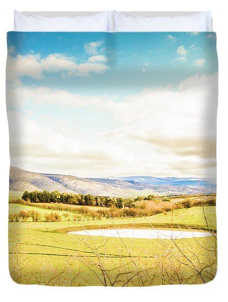 Australian Open Spaces  Duvet Cover