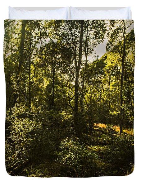 Australian Rainforest Landscape Duvet Cover