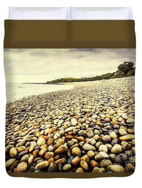 Australian Rocky Shoreline Duvet Cover