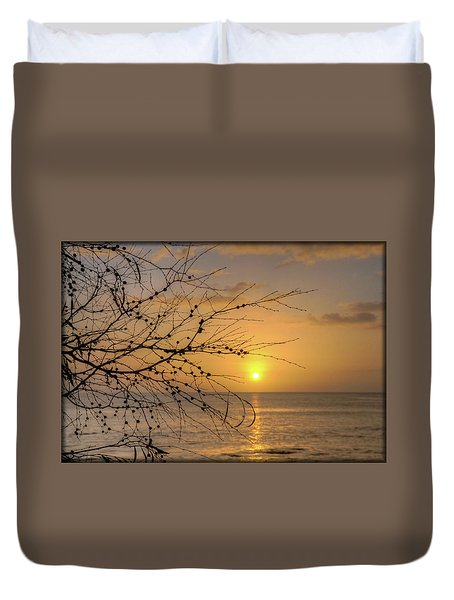 Duvet Cover featuring the photograph Australian Sunrise by Geraldine Alexander