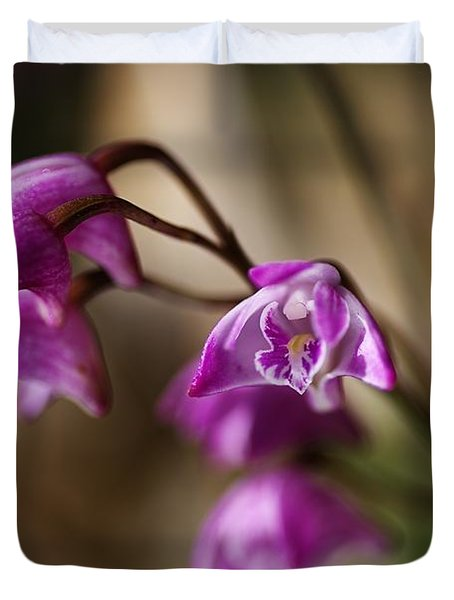 Australia's Native Orchid Small Dendrobium Duvet Cover