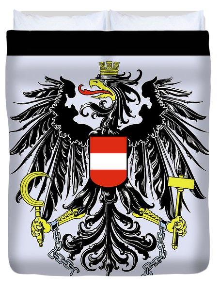 Austria Coat Of Arms Duvet Cover by Movie Poster Prints