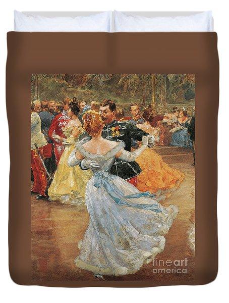 Austria, Vienna, Emperor Franz Joseph I Of Austria At The Annual Viennese Ball  Duvet Cover