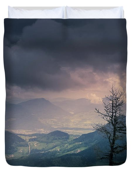 Austrian Alps Duvet Cover