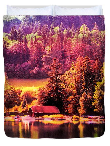 Duvet Cover featuring the photograph Austrian Autumn by Kathy Kelly