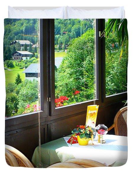 Austrian Cafe Duvet Cover by Carol Groenen