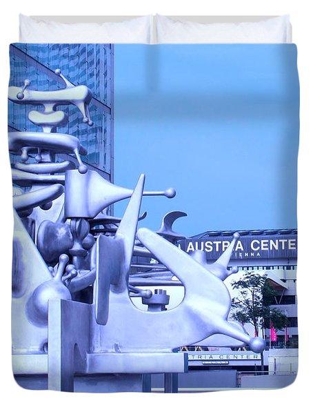 Austrian Sculpture Duvet Cover by Ian  MacDonald