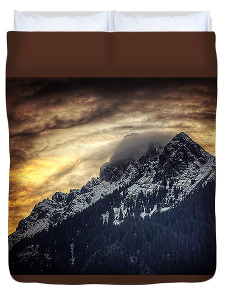 Austrian Sunset Duvet Cover
