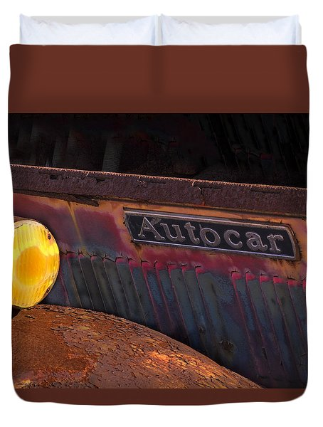 Autocar Trucks Duvet Cover by Tom Singleton