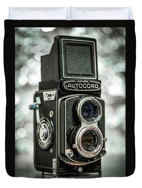 Duvet Cover featuring the photograph Autocord by Keith Hawley